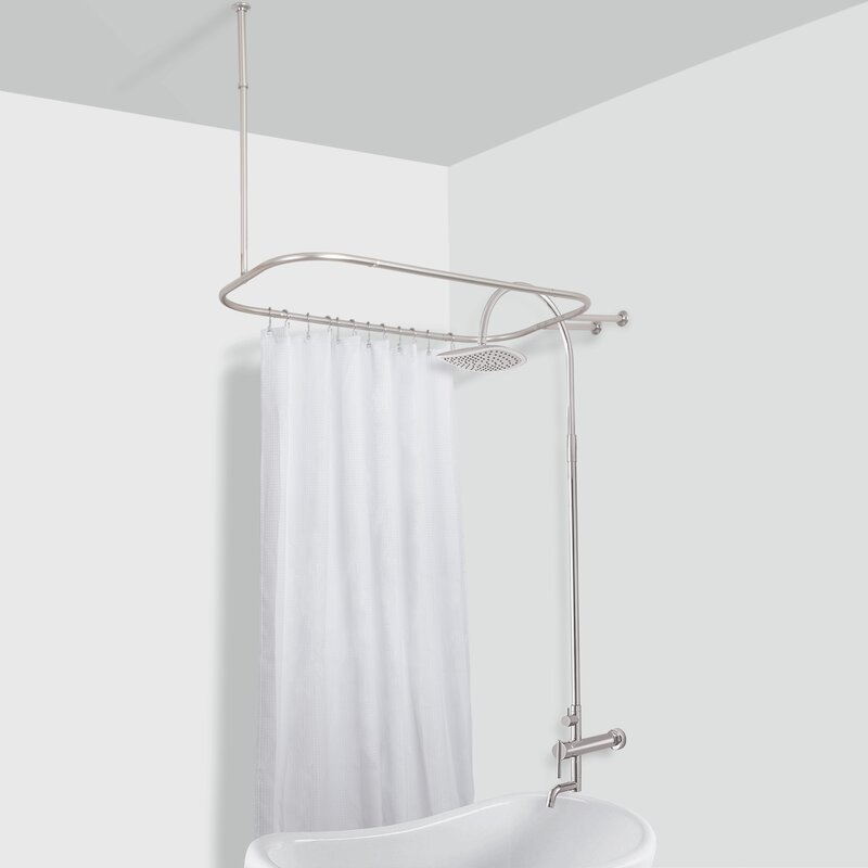 Rust Free Hoop 24 Oval Fixed Shower Curtain Enclosure