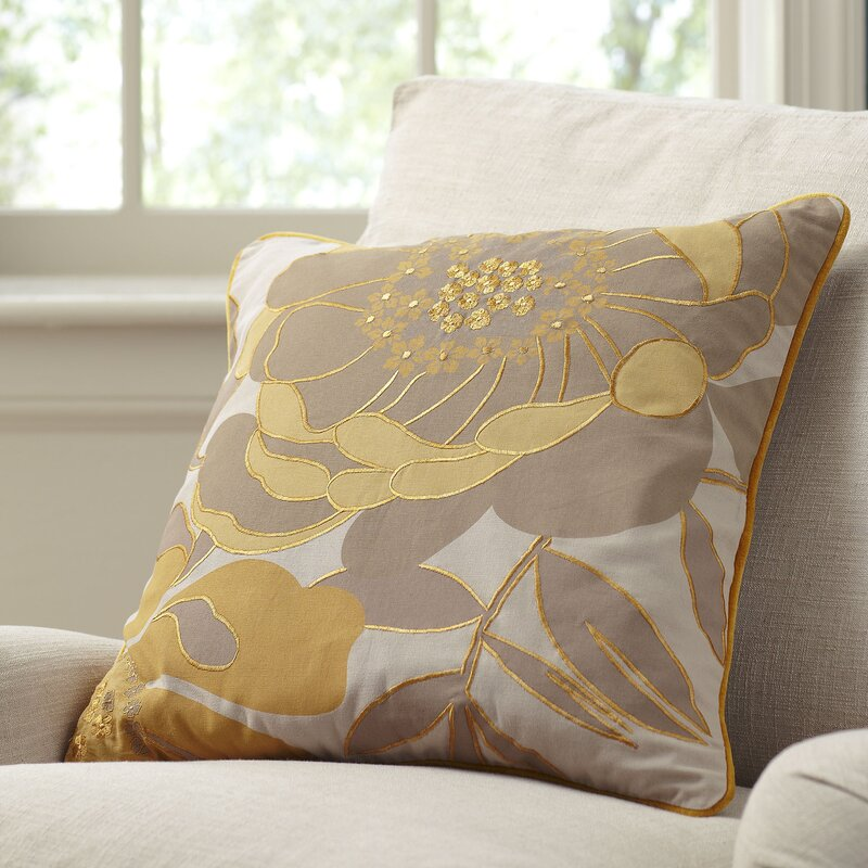 Lacie Embroidered Throw Pillow Cover & Reviews