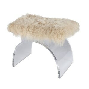 Lucite Arched Vanity Stool