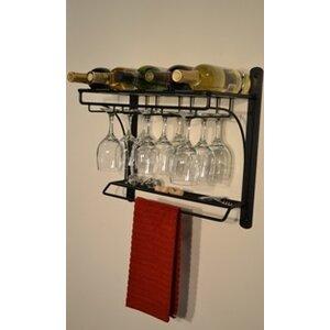 Burtondale 5 Bottle Wall Mounted Wine Rack