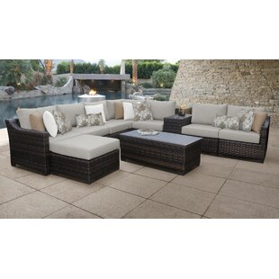 Kathy Ireland Homes Gardens River Brook 10 Piece Sectional Seating Group With Cushion