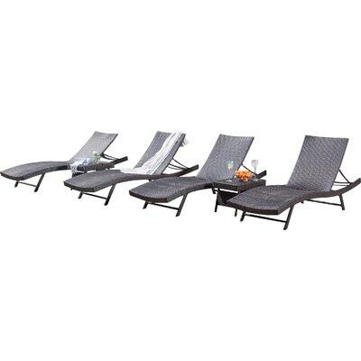 noelle 6 piece wicker chaise lounger set
