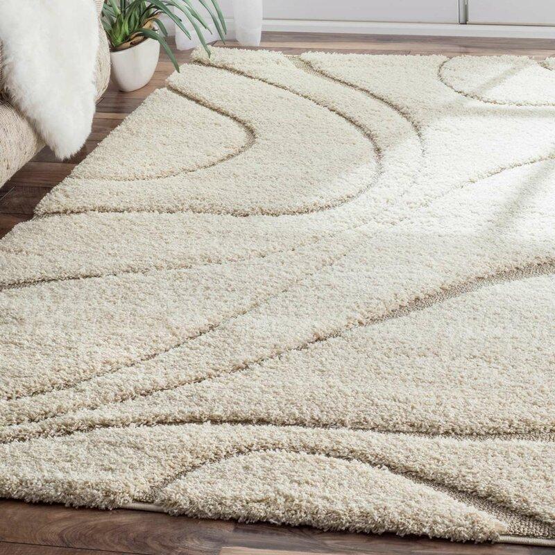 Area Rugs wade logan berenson cream area rug & reviews | wayfair
