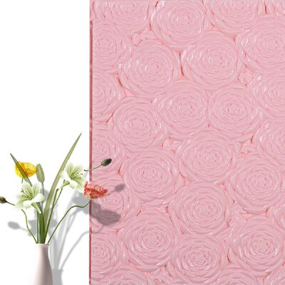 Peel and Stick Vinyl Wall Paneling e-Joy Color: Pink