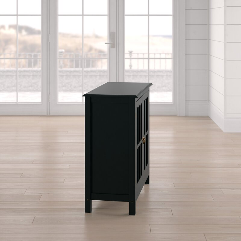 Purdue With Wooden Top 2 Door Accent Cabinet