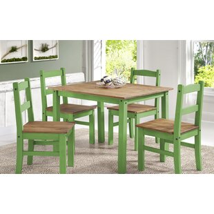 Wood kitchen dining room sets youll love rodgers solid wood 5 piece dining set workwithnaturefo