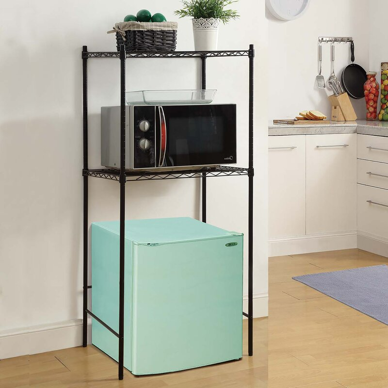 Oia Microwave And Mini Fridge Storage Rack Amp Reviews Wayfair