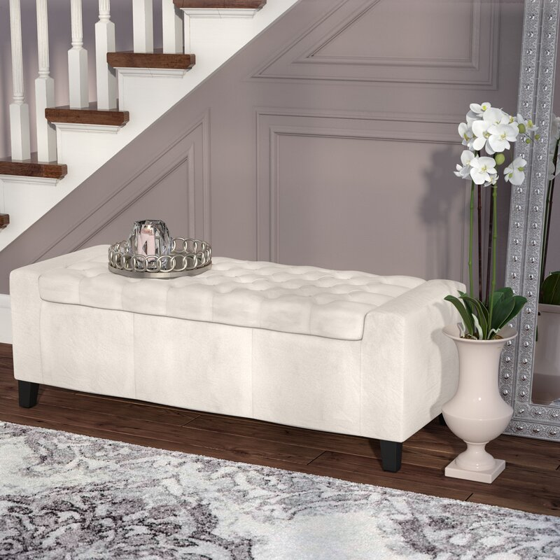 Ilchester Upholstered Storage Bench. Bedroom Benches You ll Love   Wayfair