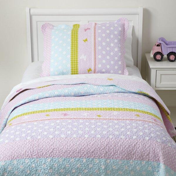 Birch Lane Kids Pretty Polka Quilted Bedding Set