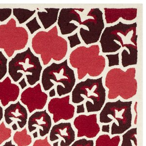 Bellagio Hand-Tufted Red/Ivory Area Rug