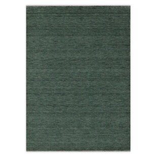 Tulare Hand Knotted Wool Granite Green Rug by Metro Lane