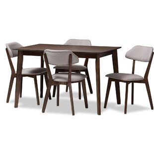 Chapdelaine Upholstered 5-Piece Dining Set