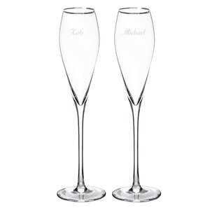 Personalized Champagne Flute Glass (Set of 2)