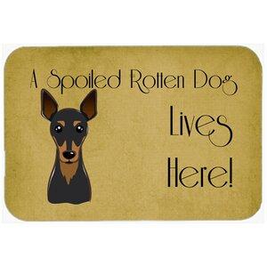 Min Pin Spoiled Dog Lives Here Kitchen/Bath Mat