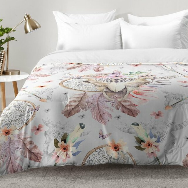 Dream Catcher Comforter Awesome East Urban Home Bohemian Dreamcatcher And Skull Floral Comforter Set