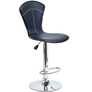 Babb Adjustable Height Swivel Bar Stool by Orren..