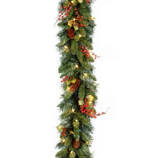 christmas garlands you ll love wayfair