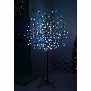 Pre Lit Led Illuminated Cherry Blossom Tree 200 Light Lamp