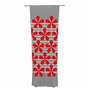 Trebam Crvena Damask Sheer Rod Pocket Curtain Panels (Set of 2)