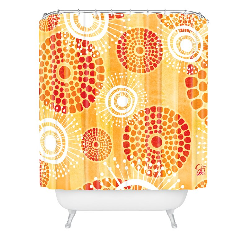 Design Festive Batik Shower Curtain