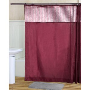 Ripley Shower Curtain Set Burgundy Sets  Wayfair