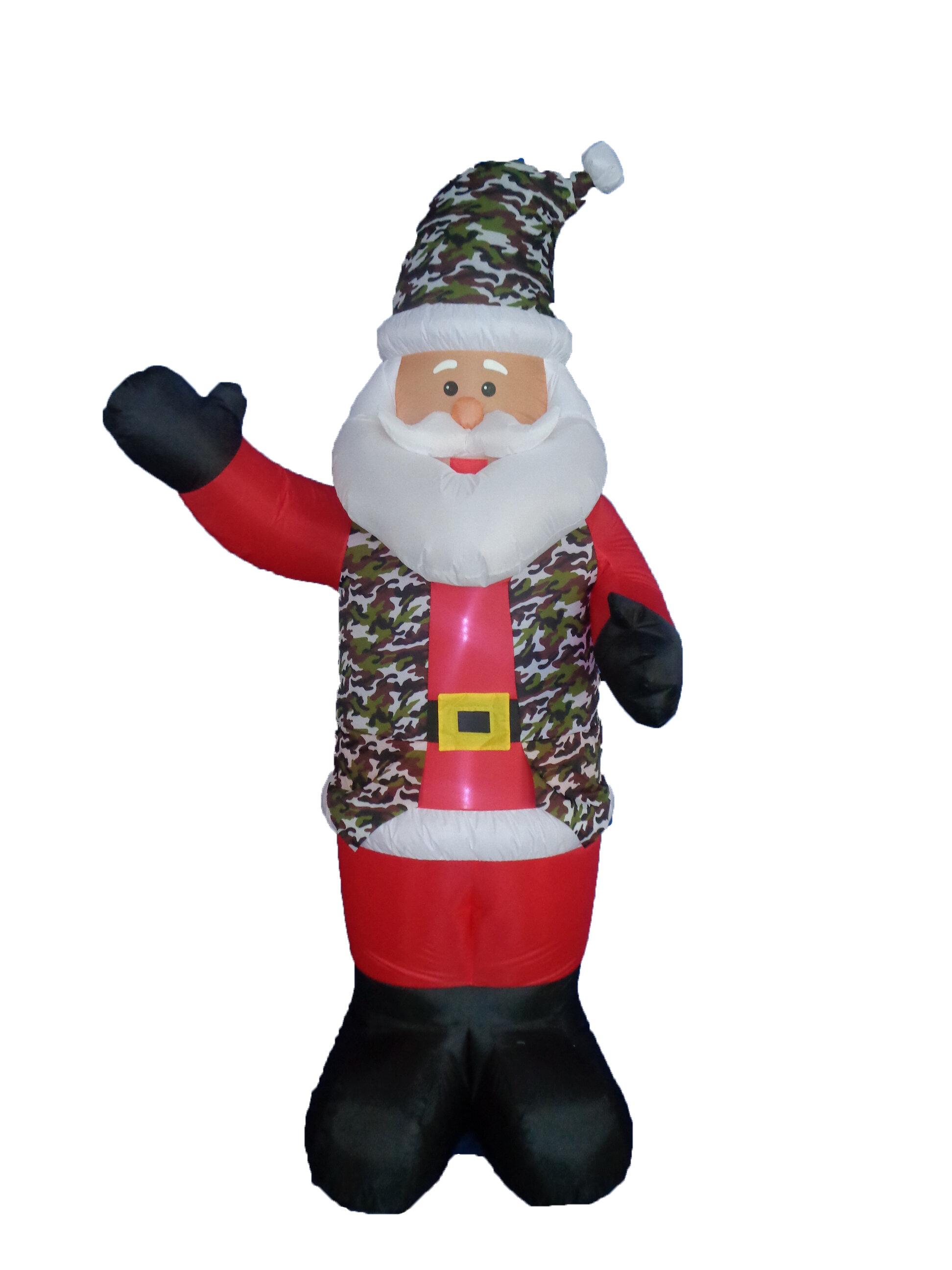 The Holiday Aisle Christmas Inflatable Battle Dress Uniform Santa ...