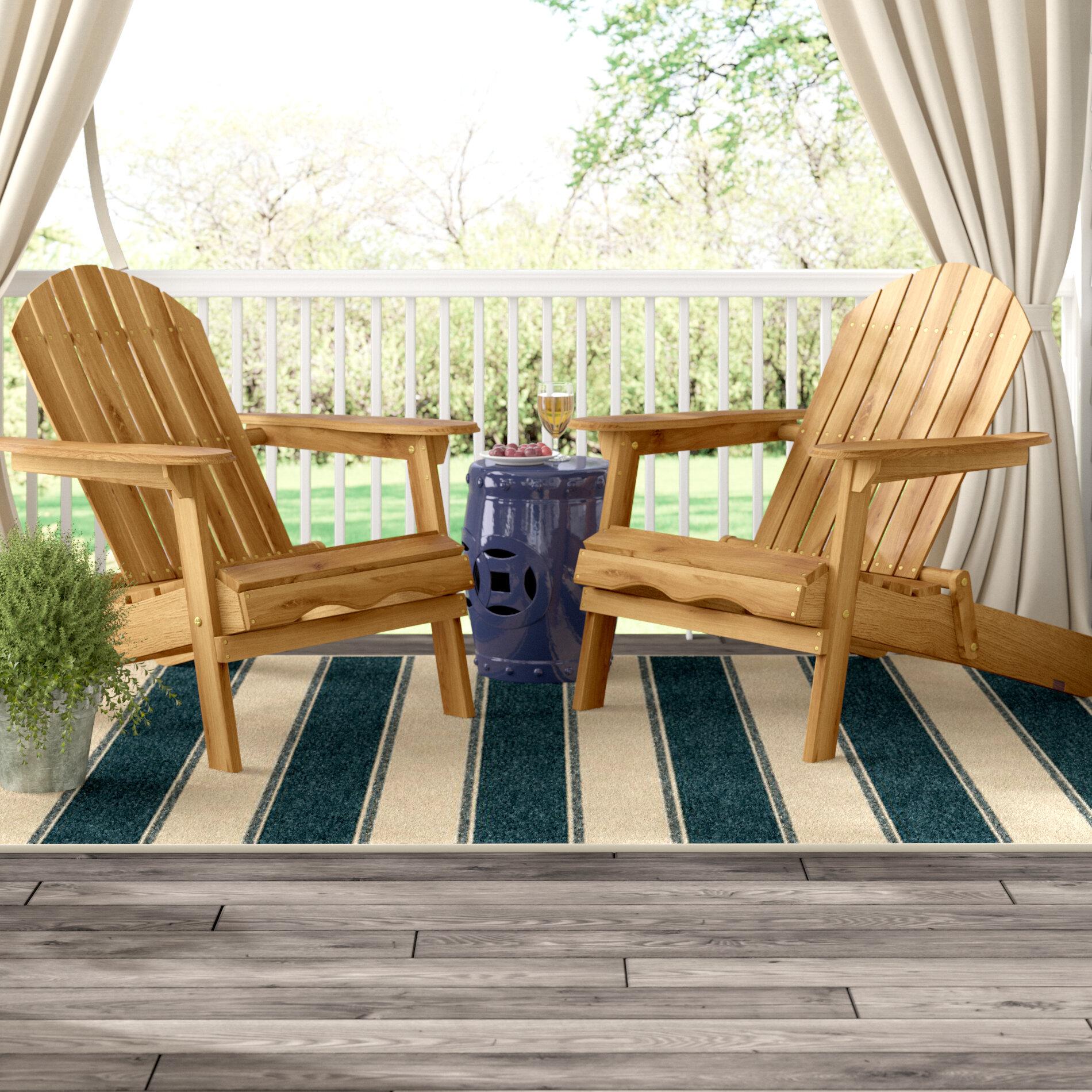 Three Posts Boone Wood Folding Adirondack Chair U0026 Reviews   Wayfair