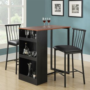 Francis 3 Piece Counter Height Pub Table Set : pub table set 3 piece - pezcame.com