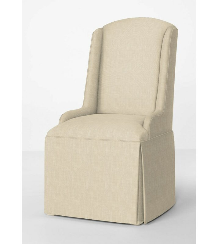 Red Barrel Studio Doric Petite Wing Back Skirted Arm Chair U0026 Reviews    Wayfair