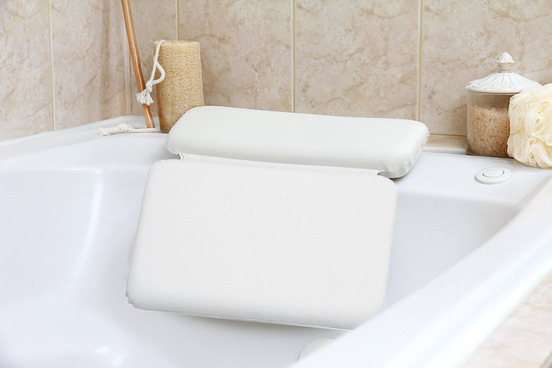 Symple Stuff Zaria Non Slip Spa Bath Pillow 2 Panel Powerful ...