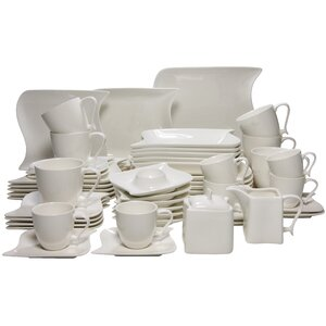 50 Piece Dinnerware Set, Service for 6