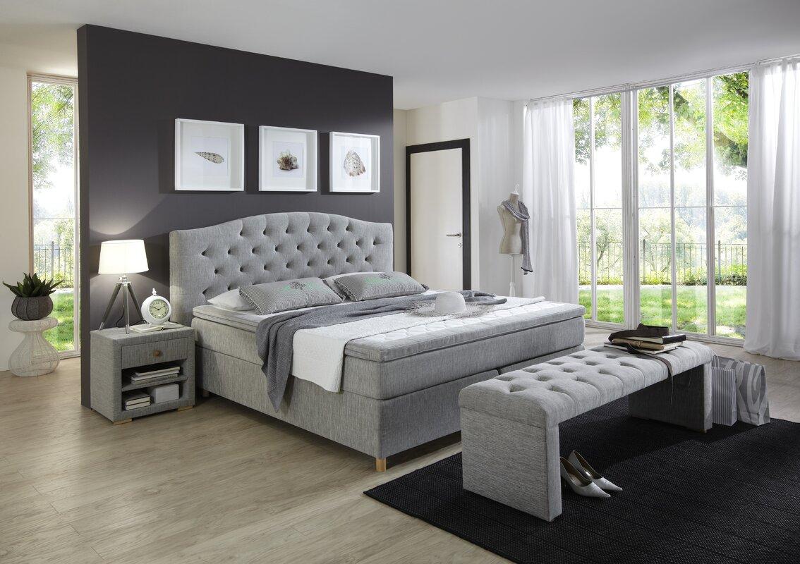 atlantic home collection boxspringbett claire mit topper. Black Bedroom Furniture Sets. Home Design Ideas