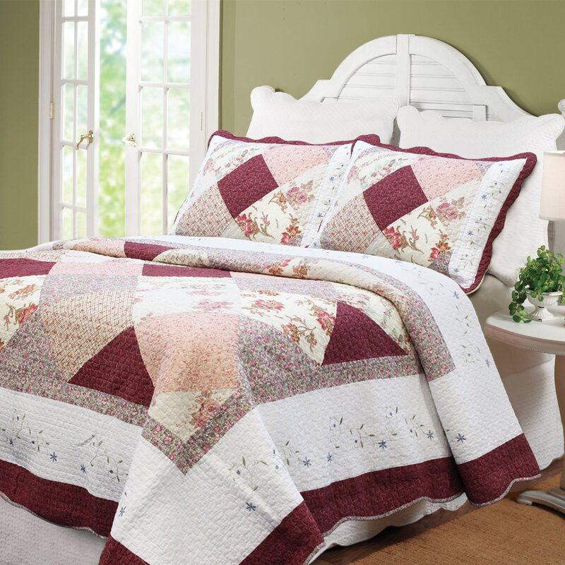 piece sham comforter special bag chic queen includes lazio pillow throw cream a patchwork and bed in set microsuede shopping shop burgundy brown soft home summer