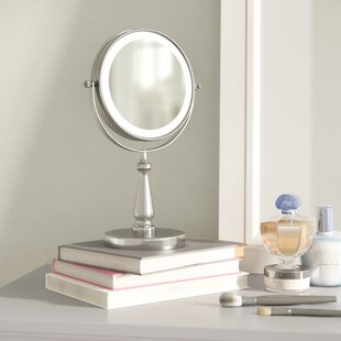 Electric lighted makeup mirror wayfair gattis glam led makeup mirror mozeypictures Images