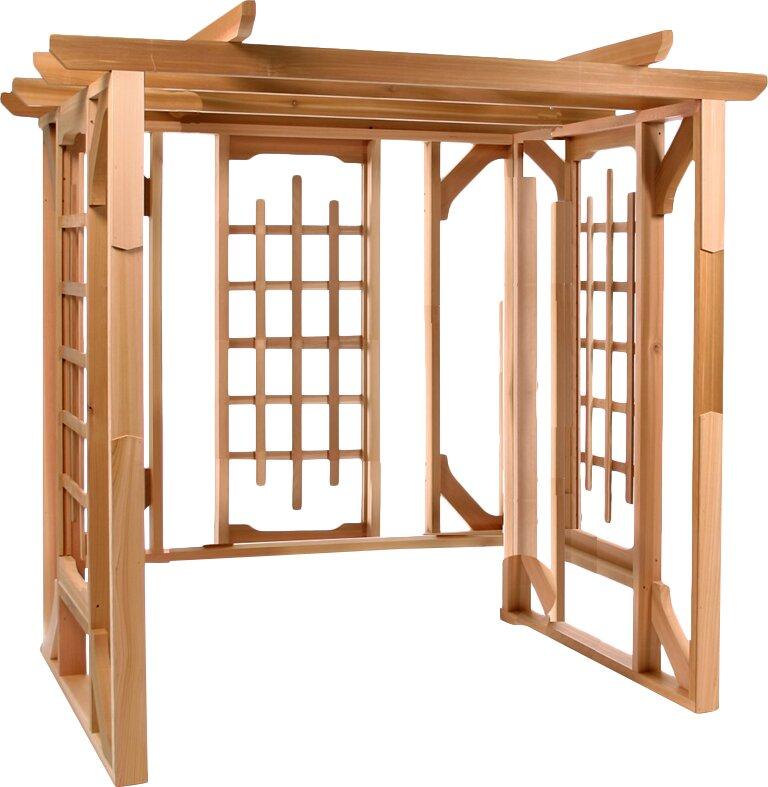 All Things Cedar 7 Ft. W x 6 Ft. D Solid Wood Pergola