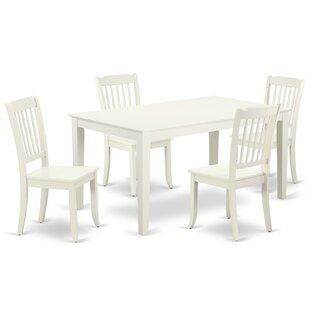 Laforest 5 Piece Solid Wood Dining Set