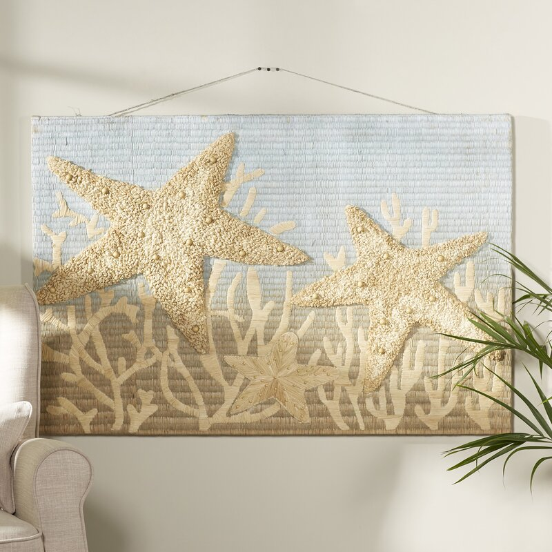 Rosecliff Heights Traditional Beige Starfish Wall Decor | Wayfair