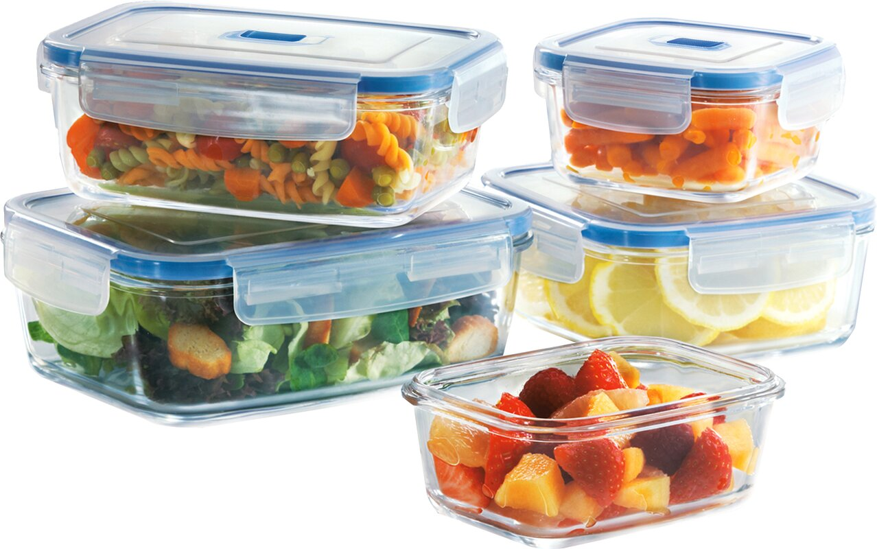 Food Storage Times Luminarc Pure Box Active 5 Container Food Storage Set Reviews