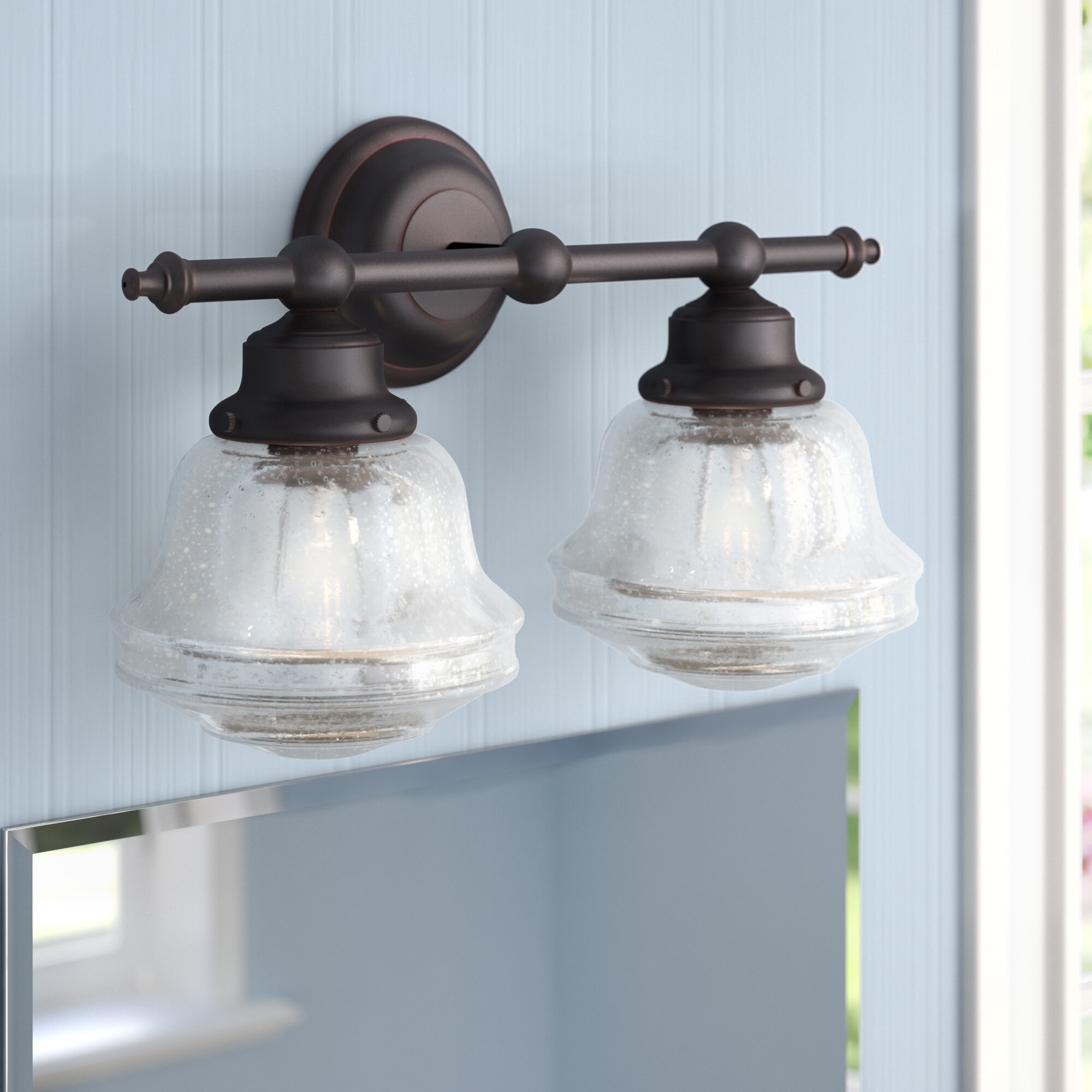 Laurel Foundry Modern Farmhouse Margaree 2-Light Vanity Light ...