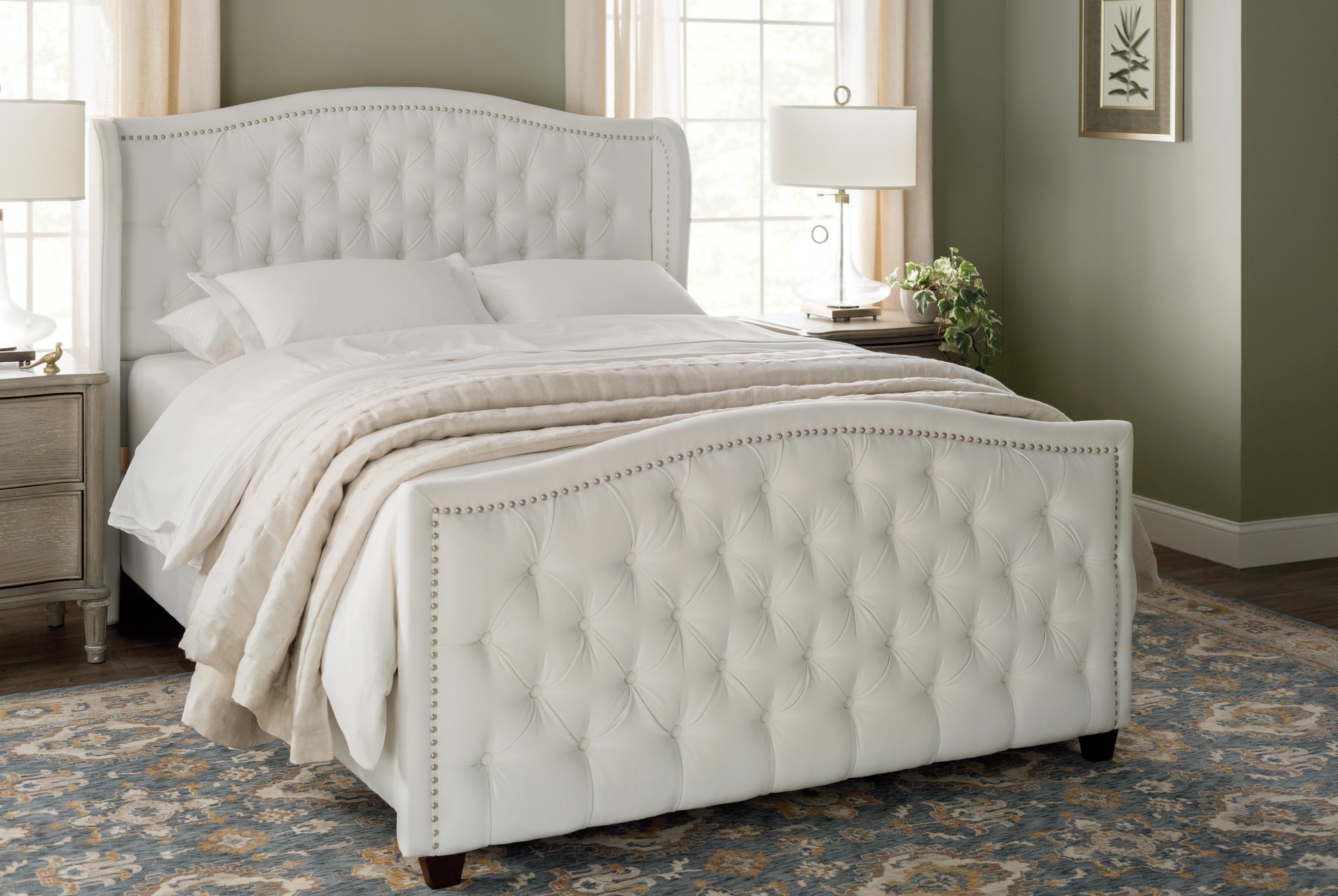 71502c41e5b8 Willa Arlo Interiors Marlon Upholstered Panel Bed   Reviews