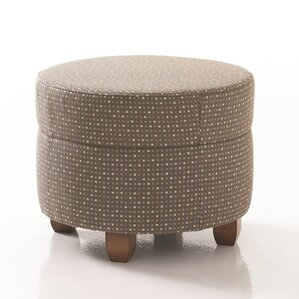 Crosby Round Ottoman in Grade 3 Vinyl by Studio Q Furniture