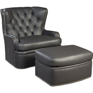 Swivel Wingback Chair And Ottoman