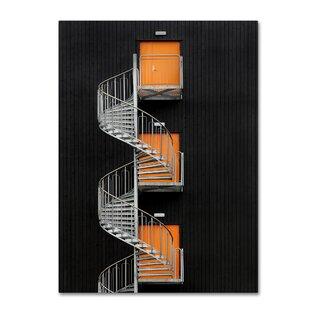 spiral staircase bookshelf wayfair