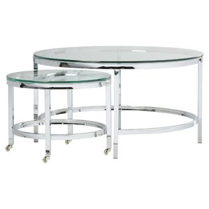 Metal coffee tables with glass top