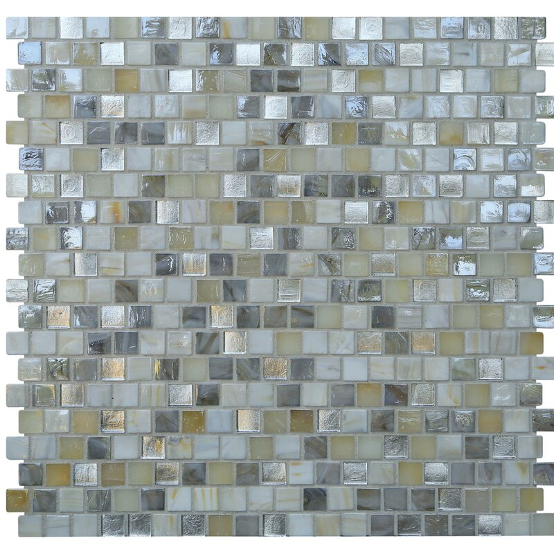"Style Of Opal 0 63"" x 0 63"" Glass Mosaic Tile in Seashell Style - Simple Glass Mosaic Wall Tiles Photos"