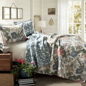 Granborough Cotton 3 Piece Reversible Coverlet Set