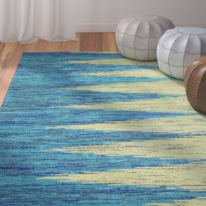 Avenue Hand-Woven Tuquoise/Gold Area Rug