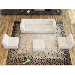 Weisman 6 Piece Leather Modular Sofa Set by Brayden Studio