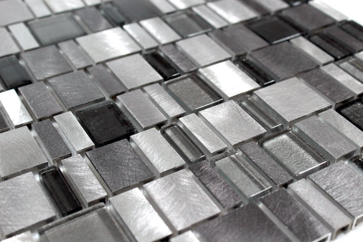 Ws tiles twilight random sized aluminumglass tile in gray twilight random sized aluminumglass tile in gray dailygadgetfo Gallery