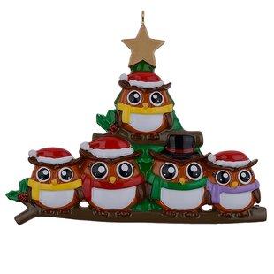 owl christmas hanging figurine